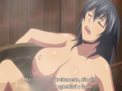 エロアニメ 可愛い超乳くノ一忍者が疲れを癒やすために五右衛門風呂で休息する無防備なおっぱいが最高にエロい...