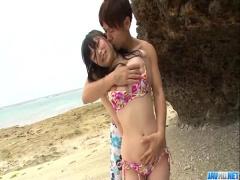 無修正 巨乳美少女とビーチSEXをきこしめす! !