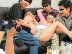 素人企画 同窓会で再会した巨乳女子と宅飲み! 無理やり飲ませてイタズラ三昧!