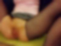 無修正 個人撮影 網タイツのパイパン女性とハメ潮セックス