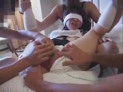 素人肉便器 個人撮影 パイパン素人がチンコとアナルを舐め輪姦される!