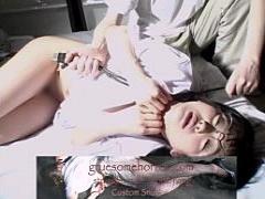 個人撮影 閲覧注意 首を絞められながらの変態SMプレイで白目アクメするメ...