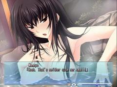 エロアニメ ツンデレっぽい黒髪ロングな爆乳美少女と露天風呂でがっつり中...