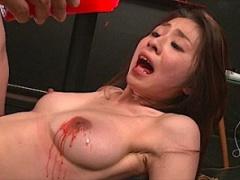 首絞めファックで膣痙攣! マゾ体質の女の子に凌辱調教でずったボロにw