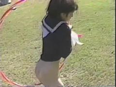 井上可奈 セーラー服で新体操 vintage