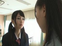 制服オナニー淫乱女教師江上しほの弱みをネタに脅迫犯すドS援交女子校生