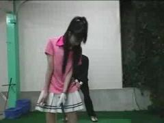 ゴルフのコーチを逆レイプして中出し誘発させる痴女娘w