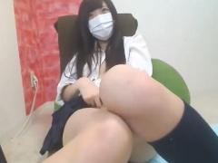 無修正ライブチャット動画 激かわむっちり黒髪ロング制服美少女JK おまん...
