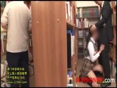 JKバイブ 図書館でポニーテール女子校生がサラリーマンのおじさんとSEXし...