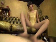 ハイレグ水着な朝倉ことみがM男のペニスを超絶テクで足コキする動画ww
