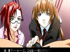 エロアニメ 超かわいい巨乳ツインテール童顔がペニスを手コキして正常位セクロスで感じちゃう!