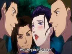 エロアニメ 美熟女がお祭りで隠れて大勢の男たちに犯されまくっちゃう!