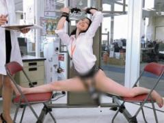 恥ずかしい格好で強制開脚拘束されたSOD女子社員にハイパー電マを当て続け...