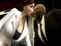 視聴率低迷するニュースキャスターが政治家の陵辱される3Dエロアニメ