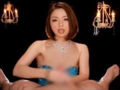 痴女が淫語責め高速手コキで男の潮吹きさせる主観動画!