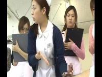 CFNM 看護師さんのチンポへの尿道カテーテル訓練。勃起したら手コキで鎮めるw