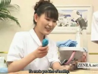 器具で亀頭責めするかわいい看護婦 強すぎましたか? 優しすぎる手コキに変更