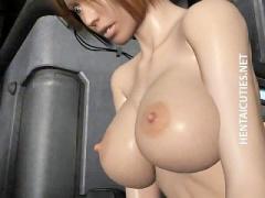 3Dエロアニメ 巨乳美女のオチンポミルク搾り取り腰振り騎乗位セックス