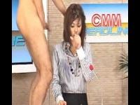 美人女子アナが生放送本番中にザーメンぶっかけられ潮吹き痙攣イキ!