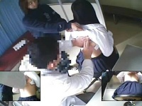 健康診断でおっぱい晒すJKたちをこっそり盗撮していた変態医師