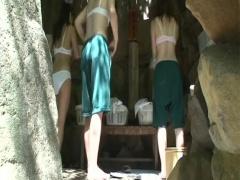 露天風呂 盗撮 修学旅行中の女子校生達の瑞々しい裸を盗撮