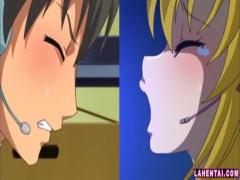 エロアニメ 金髪爆乳美少女とエロイプライブチャットでオナニー見せ合いっ...