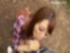 巨乳女優 宇都宮しをんの野外で濃厚フェラ! !