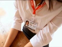 ソフトオンデマンド女子社員のギリエロイメージビデオ! 巨乳OLが白シャツ...