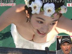 ハプニング グラドル筧美和子がテレビ番組で巨乳がポロリしそうになる放送...