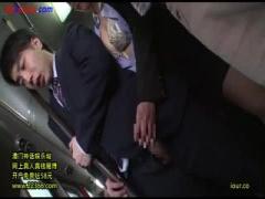 痴女OLにバスで背後から手コキ逆痴漢されるM男動画