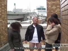 道端で偶然見かけた熟女3人組に逆レイプされるM男動画
