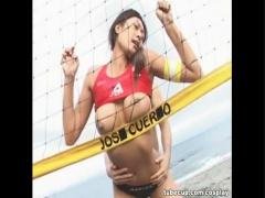ビーチバレー選手のムチムチ娘! 砂浜で濃厚3Pファック!