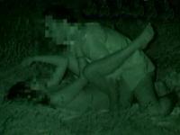 夏の夜の野外SEX! 赤外線カメラでモロ見え盗○