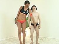 高身長バレーボール選手 白川リサのビーチバレー