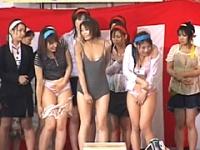 2009SOD女子社員 ポロリだらけの丸ごと下着水泳大会