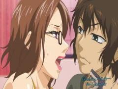 エロアニメ メガネのデカパイ兄嫁たちが義弟に犯されまくり寝取られセックス!