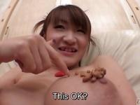 閲覧注意! 美巨乳をネバネバ納豆まみれにするクレイジー動画!
