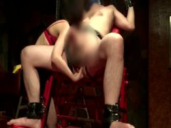 M男を拘束しアナル調教を楽しむ卑劣な女王様の動画