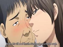 エロアニメ メガネの爆乳淫乱美女がマン毛いやらしくオマンコに正常位セクロスで感じちゃう!