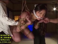 四肢縛兎 ししばくと ダルマ緊縛でガッチリ縛られた美女がバイブ挿入で悶える!