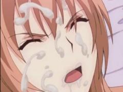 エロアニメ 乳輪でかめの爆乳おっぱい美女がクンニされてザーメン顔射ぶっ...