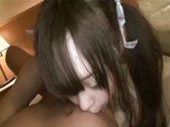 無修正 ツインテール美少女の口リマンを極デカチンポで崩壊させるハメ撮り