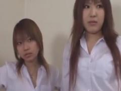 ルーズソックス痴女JKたちに目隠し手コキ抜きされるM男動画
