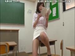 パンチラオナニーで挑発してくるエロすぎる女教師