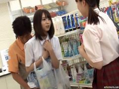 企画 女子校生 コンビニ店長が当たり前のように美少女JKに中出し! !