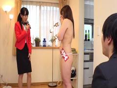 人妻 NTR 企画 夫婦対抗野球拳! 負けて全裸になった妻は罰ゲームで夫の目...