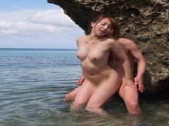 青い海青い空、キレイなビーチでセックスしようよ! ジェシカの魅惑の肢体...