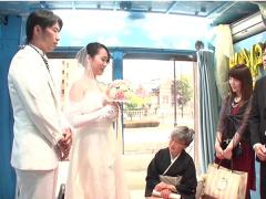 新婚NTR これはマジでアカンやつ! 結婚式を挙げたばかりのウエディングド...