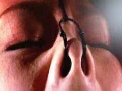 レトロ動画 緊縛鼻フック調教に喘ぎ声がこぼれる変態マゾ熟女!