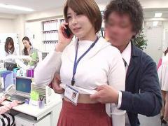 男の妄想エロ映像! 時間を止めて巨乳美人OLと生中出しセックス! !